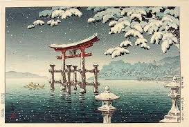 Old Itsukushima Shrine view featured on Hiroshima private English tours